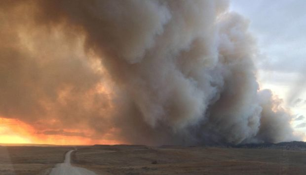 Fire rips through 10 square miles of Harding County