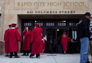 Rapid City High School graduation
