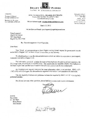 Denial letter from Spearfish