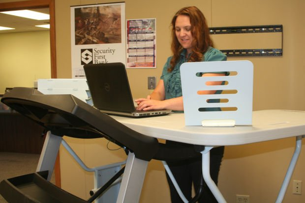 TrekDesk Treadmill Desk in use at Nebraska's NCAP