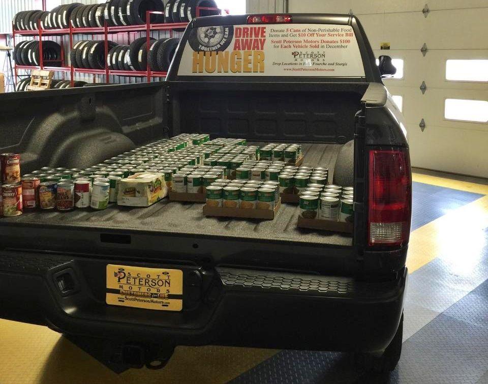 Scott peterson motors kicks off seventh annual food drive for Scott peterson motors belle fourche sd