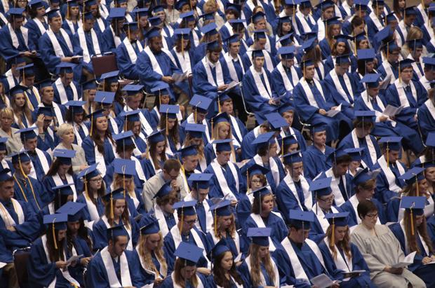 Rapid City seniors tip their caps to high school