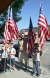 Cub Scouts decorate Hamilton for July 4