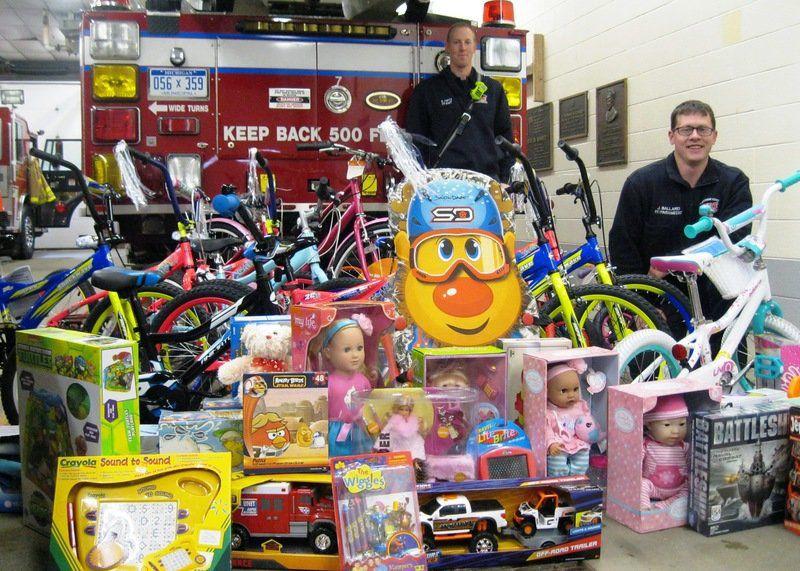 Toy Donation Application : Christmas donation program yields toys bikes
