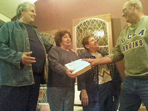 """<p><strong><em>The cast of """"That's Life"""" from left, Bradley Lewis, Gloria Mcafferty, Barbara Hoffman and Dale Fedele.</em></strong></p>"""