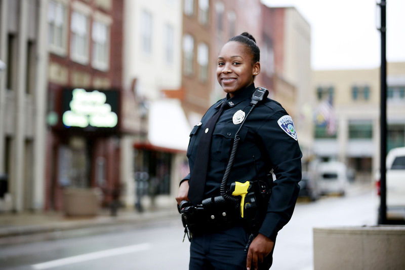 City S First Black Female Police Officer On Patrol With