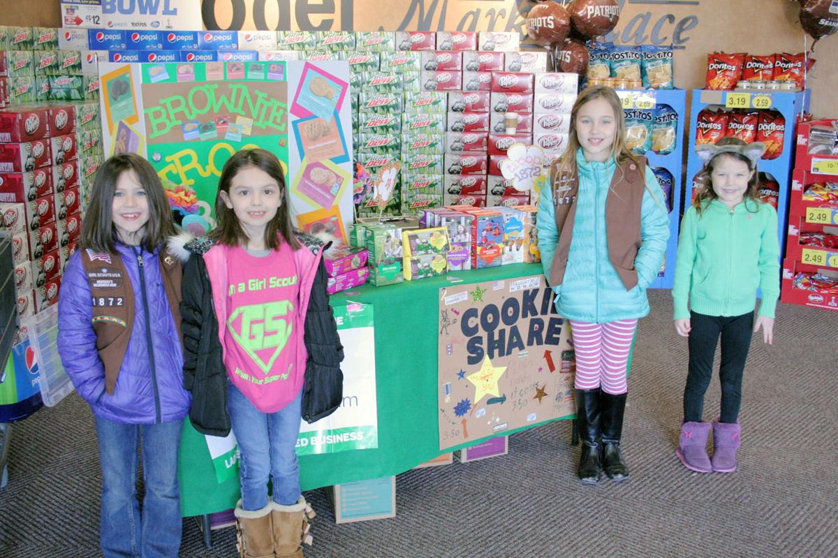 girl scouts sell cookies outside local stores local news
