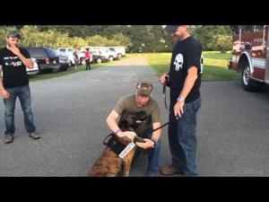 VIDEO: Peabody soldier reunites with his service dog