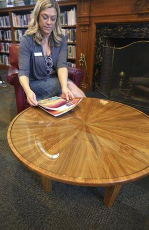 Ipswich Library turns a beloved tree into a unique piece of furniture