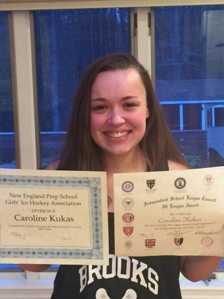 MA H.S.: Hockey Standout Kukas Honored By Brooks School