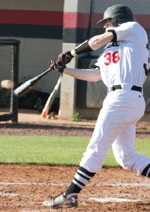 <p>Albertville senior Caleb Johnston belted two doubles and scored three runs in Saturday's victory over Westbrook Christian.</p>