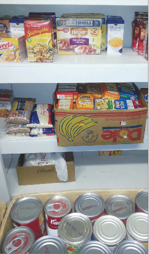 <p>The food pantry at Julia Street Methodist Church goes from being stacked to lacking each month as they feed more than 80 families in need.</p>