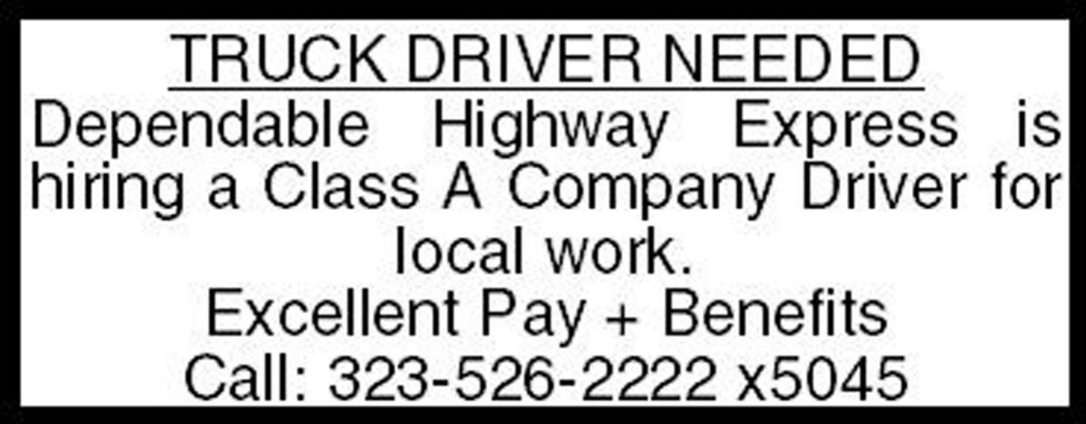 Truck Drive Needed