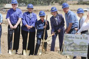 After years of work, ground is broken for Golden Inn & Village