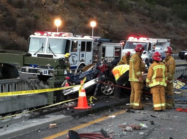 California Truck Car Accident Bridge