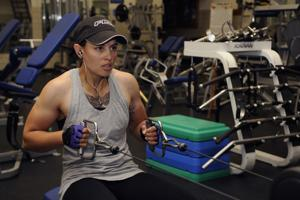 Tech. Sgt. Brittany Spoutz shows commitment to exercise