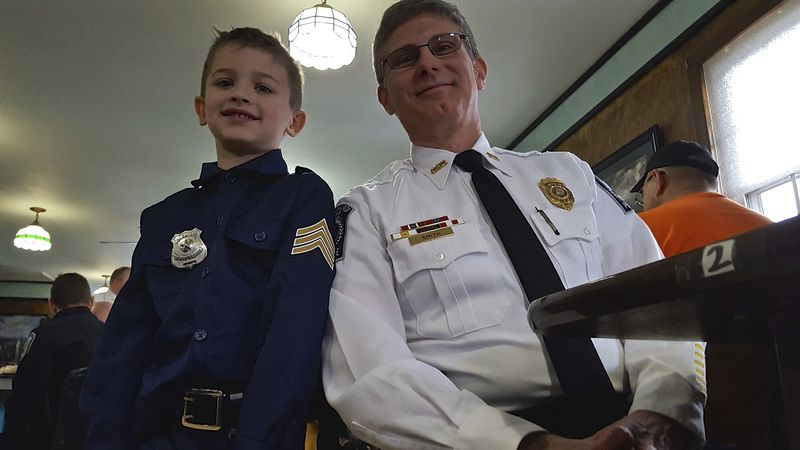 Young and old meet for 3rd Coffee with a Cop