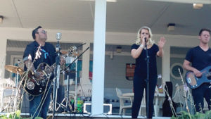 "<p>Performers who were on NBC's ""The Voice,"" Ryan Whyte Maloney, left, and Cali Tucker, offered a concert Sunday evening at Seng's Marina as a fundraiser for Stomp Out Cancer. The organization provides assistance to families of cancer patients in Mason and Manistee counties. Maloney is from Traverse City and performed a concert here in May as well, but this time with special guest Cali Tucker.</p><p></p>"