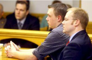 Eric Knysz listens as guilty verdict read