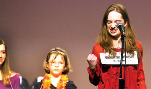 <p>O.J. DeJonge Middle School Seventh-grader Marguetite Arbogast is returing to the Scripps Howard National Spelling Bee in Washington. Arbogast won the Ludington Daily New Community Spelling Bee for the second year in a row.</p>