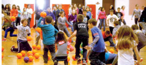 <p>Foster Elementary School students play a game of dodgeball during the afternoon recess Thursday. The game is known as Rewards Recess and is offered to students who complete all of their homework for the week, according to Foster Principal Michael Ritter. It has been offered to students for the past five years.</p>