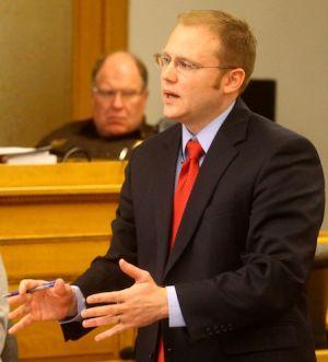 Defense attorney David Glancy gives closing arguments