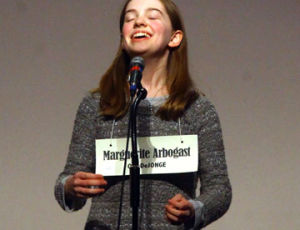 <p>Marguerite Arbogast won the 2013 and 2014 Ludington Community Spelling Bees.</p>