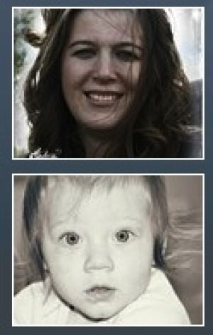 Mother Amanda, 10-month-old Lillan