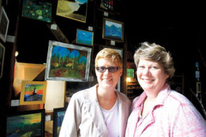 <p>Nancy and Judy Miller are excited to open Shagway Art Barn Friday.</p>