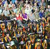 Ludington High School seniors celebrate graduation Sunday in Hawley Gym. See the story and photos in Monday's Daily News.
