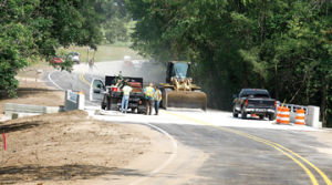 <p>The bridge over Swan Creek is expected to be complete this week, according to Wayne Schoonover of the Mason County Road Commission.</p>