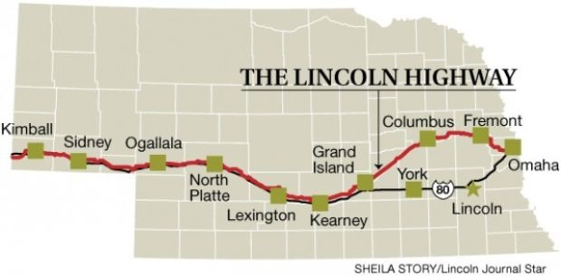 Century ago lincoln highway brought motorists across iowa for Star city motors lincoln ne