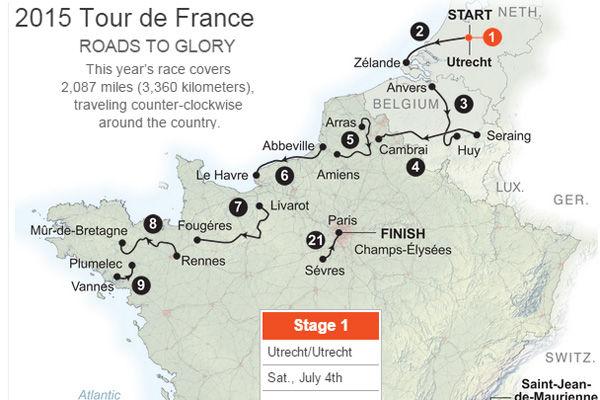 Interactive: Tour de France 2015