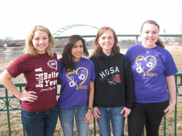Health Science students cystic fibrosis walk