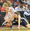 Photos: Iowa girls basketball tournament Monday, March 2