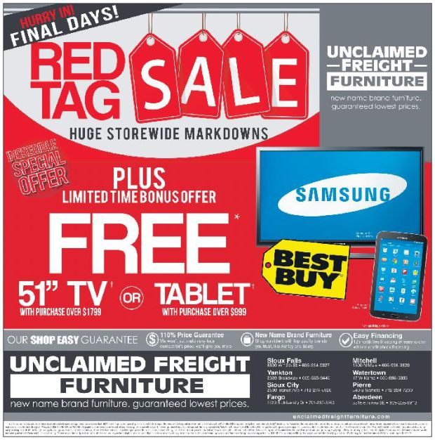 Business Unclaimed Freight Furniture