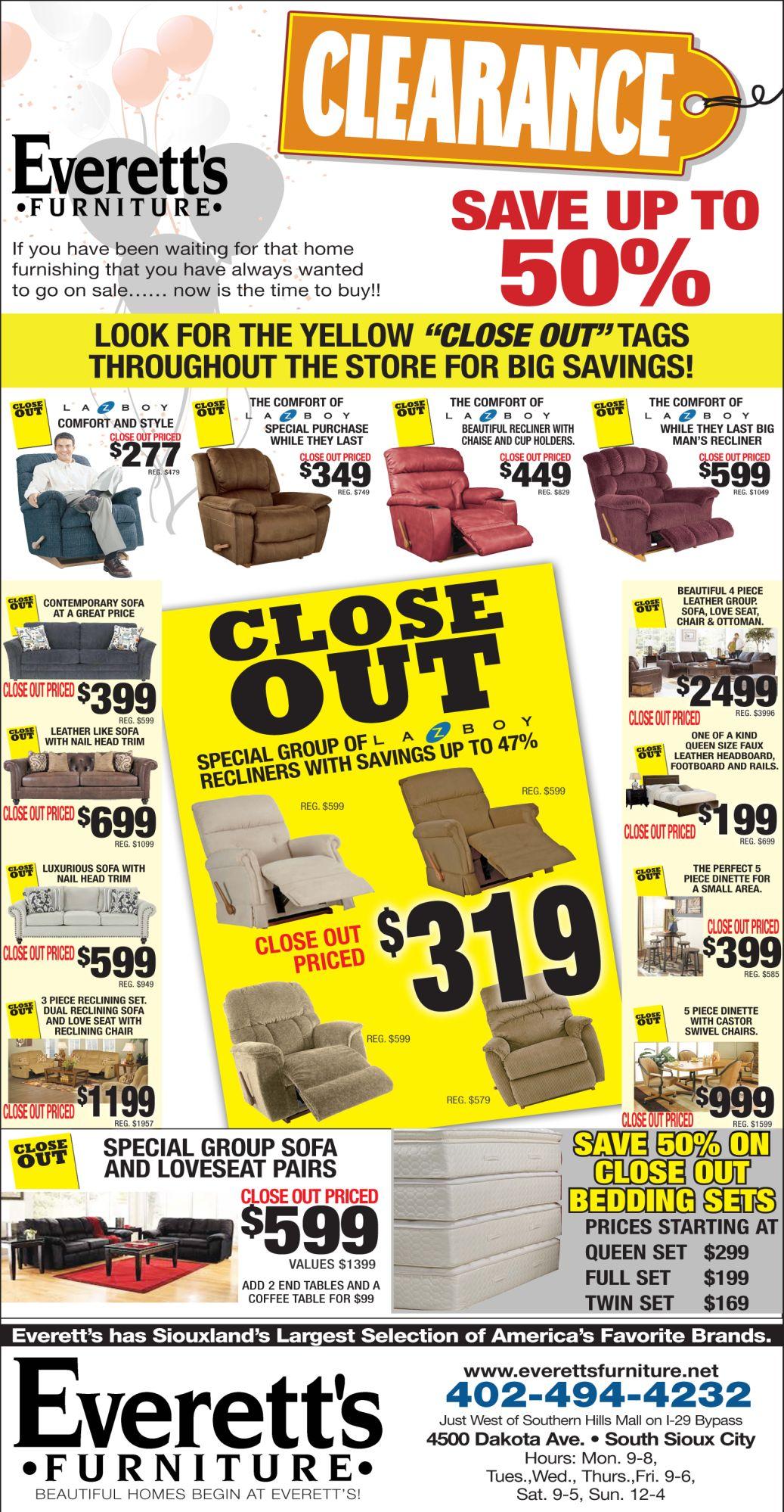 Everett 39 S Furniture South Sioux City Ne