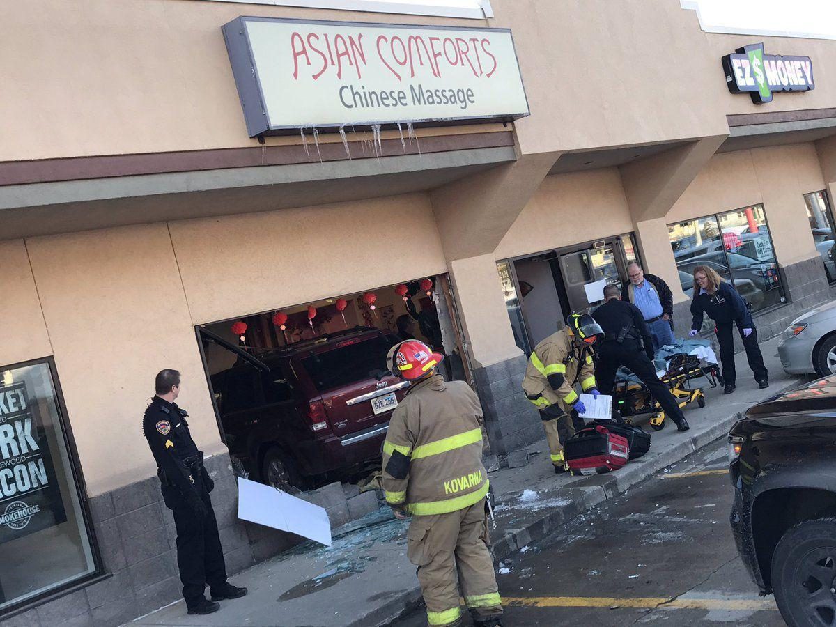 news local hurt after vehicle plunges into sioux city massage parlor article bdbcea