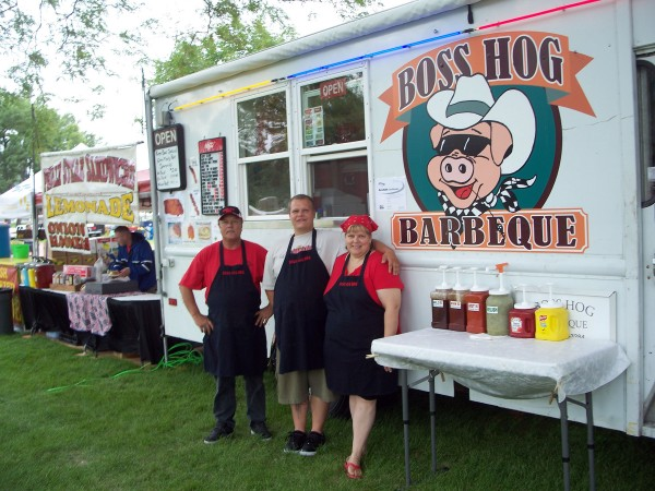 Boss Hog Grille : Food saturday in the park more than music and
