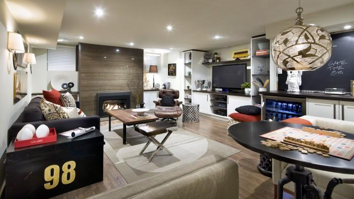 basement reno caters to sports loving family home and garden