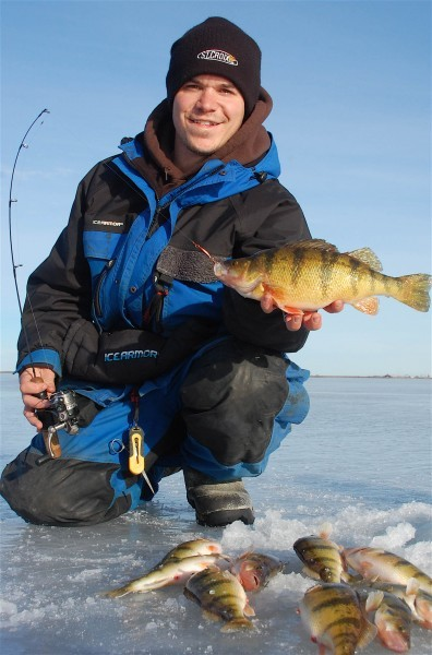 Perch bite is on at northeast dakota lakes outdoors for Webster sd fishing report