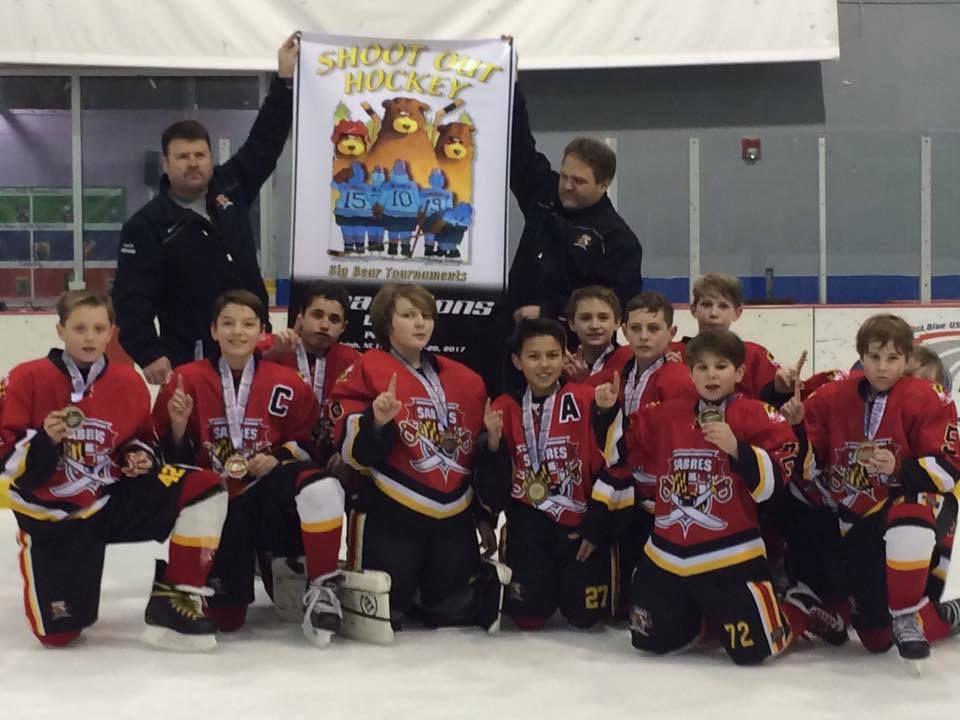 Southern Maryland Sabres Ice Hockey Teams Win At North