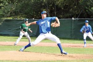 <p>Analy hurler Jack Newman delivered a pitch in an April 8 varsity baseball clash with visiting Sonoma Valley. The Dragons won 6-1.</p>