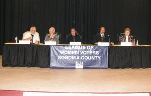 <p>(L-R): Gus Wolter, Michele Penirian Winterbottom, Jude Gibson-Byers, Joe Palla and Carol Russell.</p><p></p>