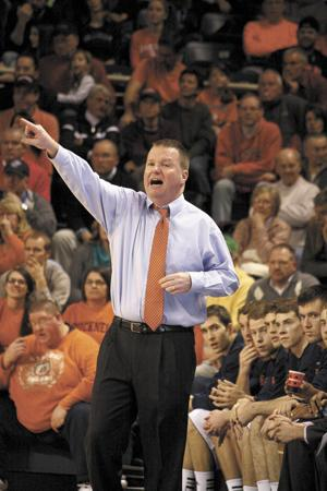 <p>Dave Paulsen coached seven seasons at Bucknell University, leading the team to two NCAA Tournament and two NIT appearances. He agreed Monday to become the head coach at George Mason.</p>