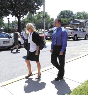 <p>Tyler G. Porter, at right in shirt and tie, entered a no contest plea Tuesday to a felony charge of conspiracy to commit aggravated assault. He will be sentenced in Union County Court at a later date. Other charges were dropped.</p>