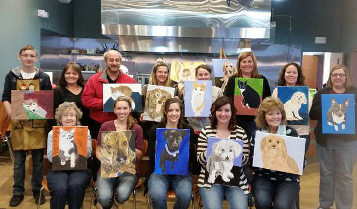 Wine and sip painting classes available at pairings wine for Wine and painting mn