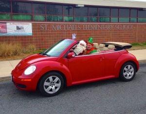 Santa visits St. Michaels Elementary School