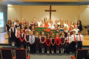 LCA students fill shoeboxes for Operation Christmas Child