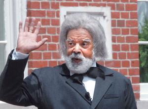 Frederick Douglass re-enactor
